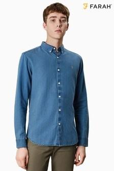 Farah Blue Brewer Indigo Shirt