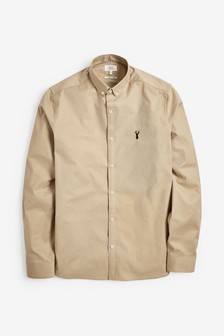 Long Sleeve Stretch Oxford Shirt