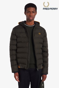 Fred Perry Padded Hooded Insulated Jacket