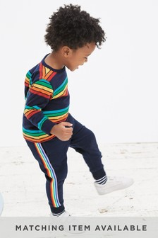 Rainbow Side Stripe Joggers (3mths-7yrs)