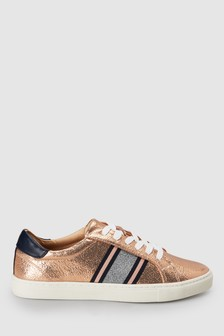 Webbing Lace-Up Trainers