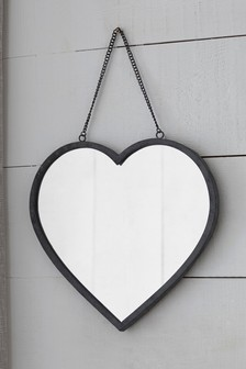 Vintage Effect Heart Mirror