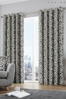 Fusion Zebra Eyelet Curtains