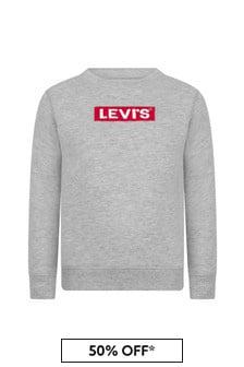 Levis Kidswear Boys Grey Cotton Blend Sweater