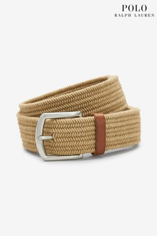 Polo Ralph Lauren Beige Cotton Weave Stretch Belt