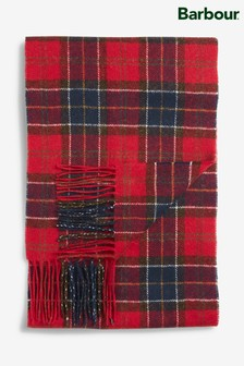 Barbour® Tartan Red/Blue Lambswool Scarf