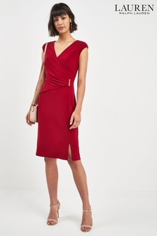 Lauren Ralph Lauren® Garnet Wrap Sleeveless Dress