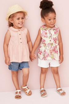 Sleeveless Tops Two Pack (3mths-7yrs)