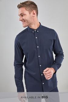 Slim Fit Long Sleeve Stretch Oxford Shirt