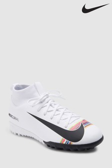 Nike White Power Up Superfly X 6 Academy Turf Junior & Youth