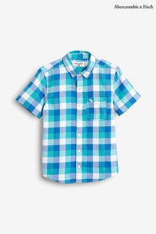 Abercrombie & Fitch Blue Check Preppy Shirt