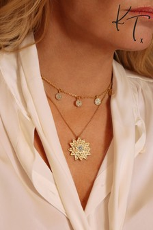 Kate Thornton Gold Tone Layered Star And Boho Coin Necklace