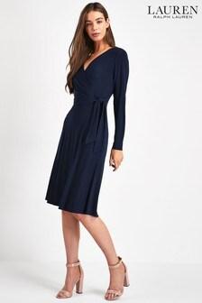 Lauren Ralph Lauren® Navy Corren Wrap Dress