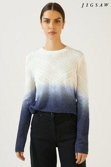 3ff079f92fcd4 Buy Women s knitwear Knitwear Blue Blue Jumpers Jumpers Jigsaw ...