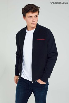 Calvin Klein Jeans Black Fleece Bomber Jacket