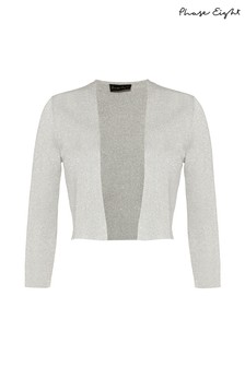 Phase Eight Silver Salma Shimmer Knitted Jacket