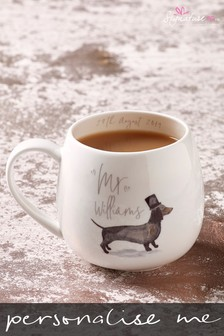 Personalised Daschund Mr Mug by Signature Gifts