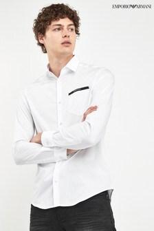 Emporio Armani White Pocket Shirt