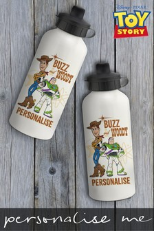 Disney™ Toy Story Personalised Woody And Buzz Lightyear Water Bottle