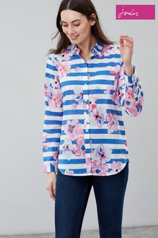 Joules Blue Lucie Printed Woven Shirt