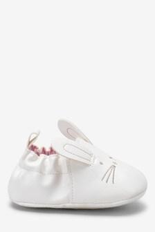 Bunny Pram Slip-Ons (0-18mths)