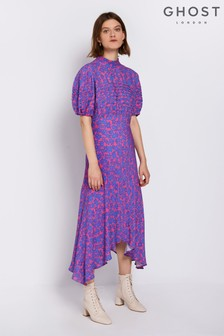 Ghost London Pink Printed Jenna Dress
