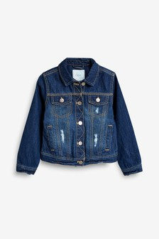 Symbol Of The Brand Baby Girl Next Denim Jacket 3-6 Months Warm And Windproof Baby