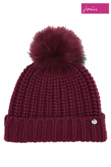 Joules Purple Trina Knitted Hat