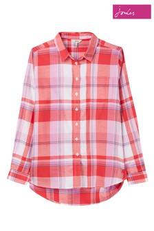 Joules Red Lorena Check Shirt