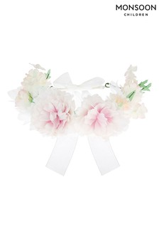 Monsoon Pink Organza Flower Garland