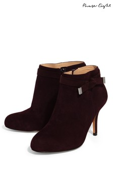 Phase Eight Blackberry Stephanie Leather Tie Side Boot