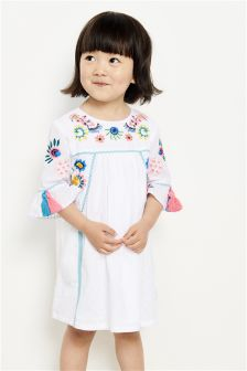 Embroidered Tassel Dress (3mths-6yrs)