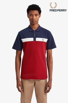 Fred Perry Contrast Panel Pique Poloshirt