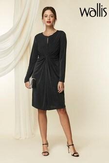 Wallis Petite Black Slinky Twist Shift Dress