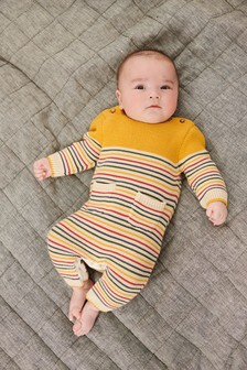 Striped Knitted Romper (0mths-2yrs)