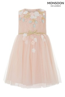 Monsoon Peach Baby Lilly Dress