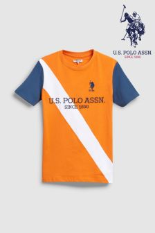 U.S. Polo Assn. Orange Champion Tee
