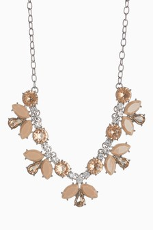 Pink Jewel Effect Short Necklace