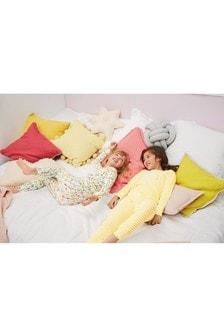 Два пижамных комплекта облегающего кроя в рубчик с цветочным рисунком (3-16 лет)