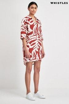 Whistles Brushstroke Print Lola Dress