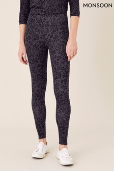 Monsoon Grey Animal Print Leggings