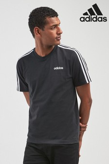 adidas Essentials 3 Stripe Tee