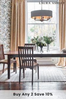 Garrat Dark Chestnut Pair Of Dining Chairs by Laura Ashley