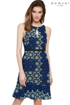 Damsel In A Dress Blue Susanna Floral Embroidered Dress