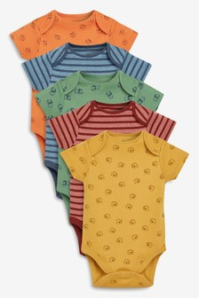 5 Pack Character/Stripe Short Sleeve Bodysuits (0mths-2yrs)