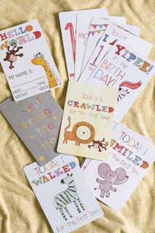 Baby Girl Milestone Cards Flamingo Moderate Price Keepsakes, Memory Books Baby
