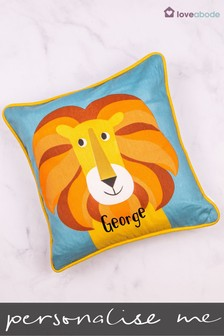 Personalised Lion Novelty Cushion by Loveabode