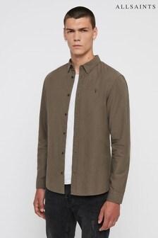 AllSaints Brown Sulzer Shirt
