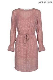 Sofie Schnoor Pink Textured Smock Dress