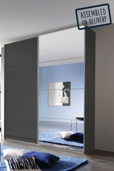 Courtney Dark Grey Glass 1.81m Sliding Wardrobe Rauch
